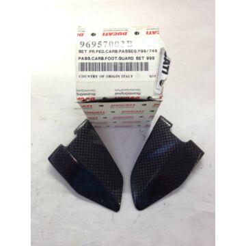 DUCATI karbon csizmavéő utas oldal carbon heel guards pass 749 - 999