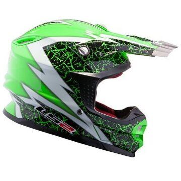LS2 MX456 CRAZE BLACK WHITE GREEN SISAK