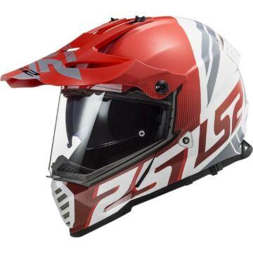 LS2 MX436 PIONEER EVO EVOLVE RED WHITE
