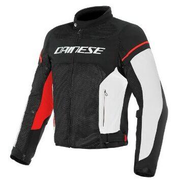 Dainese AIR FRAME D1 TEX JACKET BLACK/WHITE/RED dzseki