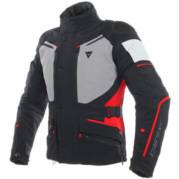 Dainese CARVE MASTER 2 GORE-TEX® JACKET, BLACK/FROST-GREY/RED