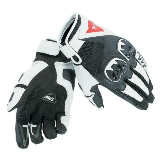 Dainese MIG C2 Unisex Gloves, BLACK/WHITE/BLACK fekete-fehér kesztyű