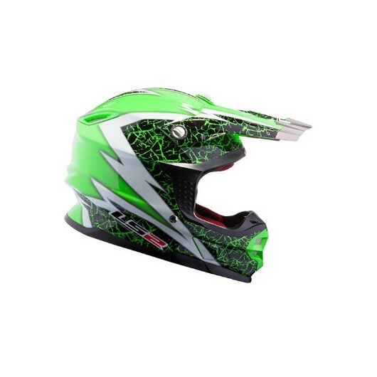 LS2 MX456 CRAZE BLACK WHITE GREEN SISAK