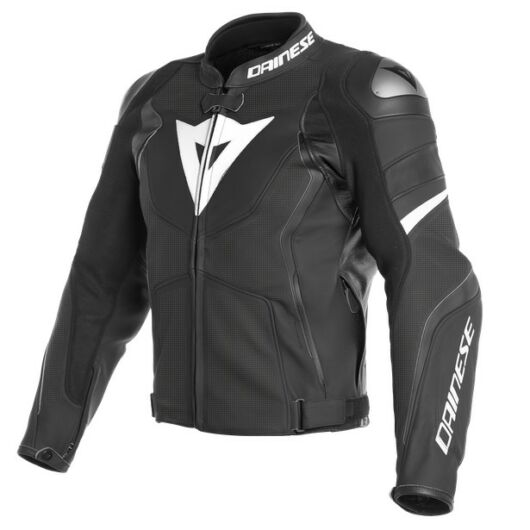 Dainese AVRO 4 LEATHER JACKET PERFORATED BLACK bőrdzseki