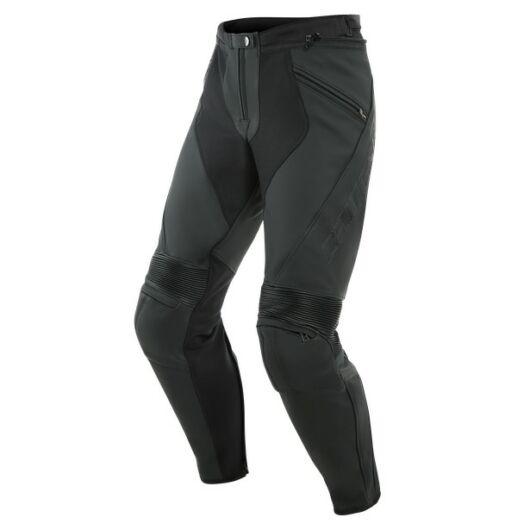 Dainese PONY 3 LEATHER PANTS BLACK-MATT bőrnadrág