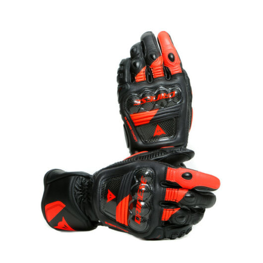 Dainese DRUID 3 GLOVES BLACK/FLUO-RED Kesztyű