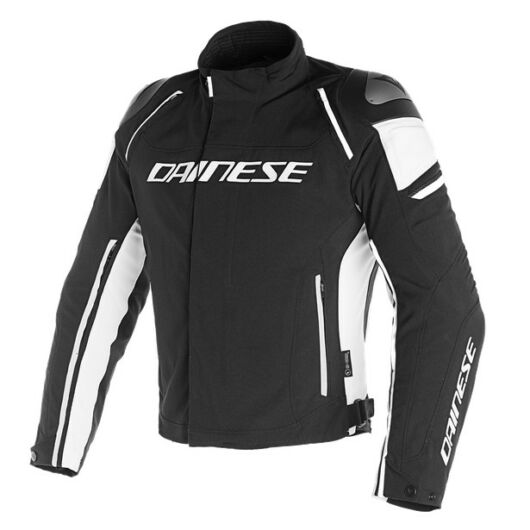 Dainese RACING 3 D-DRY JACKET BLACK/BLACK/WHITE dzseki