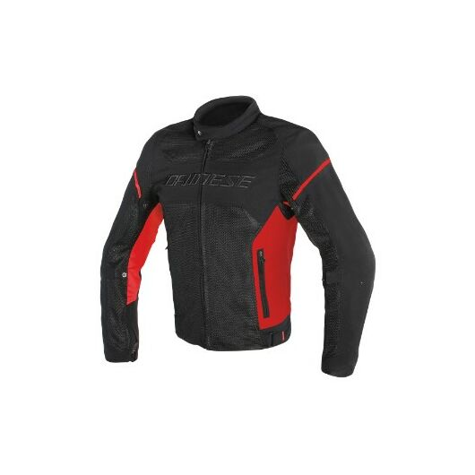 Dainese AIR FRAME D1 TEX JACKET BLACK/RED/RED dzseki