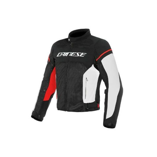 Dainese AIR FRAME D1 TEX JACKET BLACK/WHITE/RED dzseki