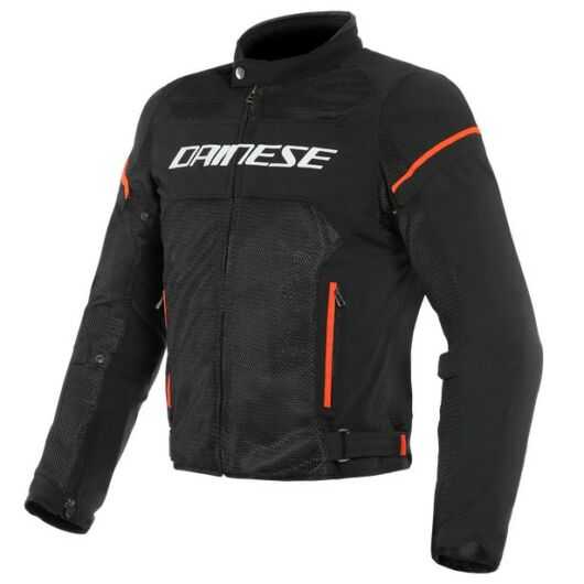 Dainese AIR FRAME D1 TEX JACKET BLACK/BLACK/RED-FLUO dzseki
