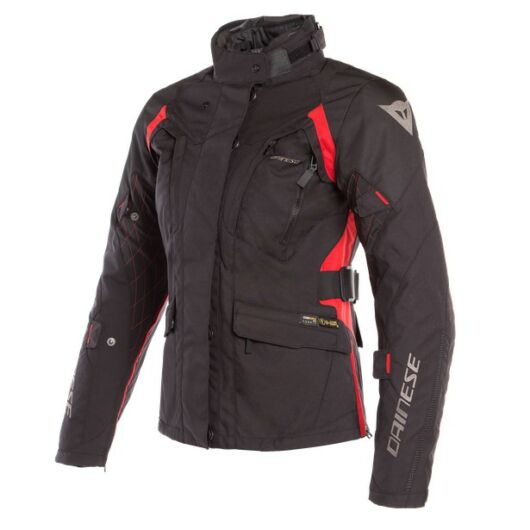 Dainese X-TOURER D-DRY® LADY JACKET BLACK/BLACK/TOUR-RED cordura kabát