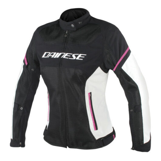 Dainese AIR FRAME D1 LADY TEX JACKET BLACK/FUXIA dzseki