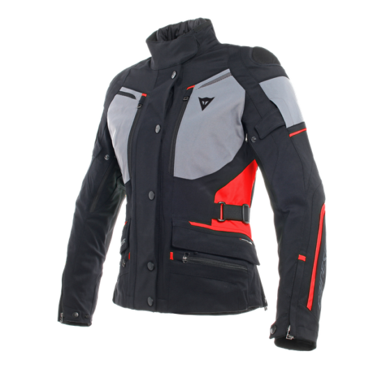 Dainese CARVE MASTER 2 LADY GORE-TEX JACKET, BLACK/FROST-GREY/RED