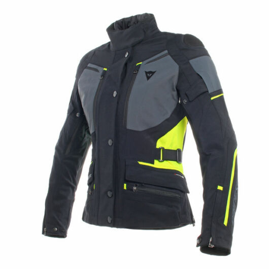 Dainese CARVE MASTER 2 LADY GORE-TEX JACKET BLACK/EBONY/FLUOYELLOW dzseki