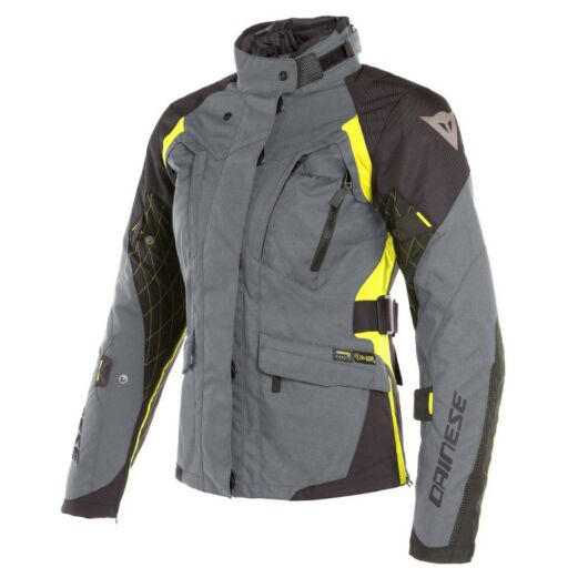 Dainese X-TOURER D-DRY LADY JACKET EBONY/BLACK/FLUO-YELLOW dzseki