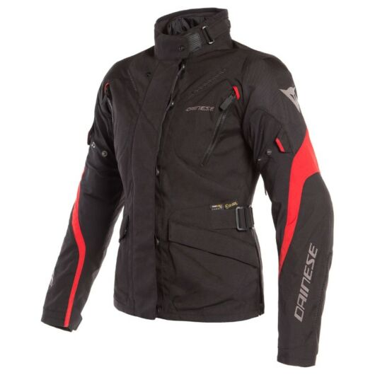Dainese TEMPEST 2 D-DRY® LADY JACKET BLACK/BLACK/TOUR-RED dzseki
