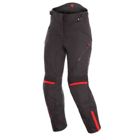 Dainese TEMPEST 2 D-DRY LADY PANT BLACK/BLACK/TOUR-RED nadrág