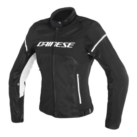 Dainese AIR FRAME D1 LADY TEX JACKET BLACK/BLACK/WHITE női dzseki