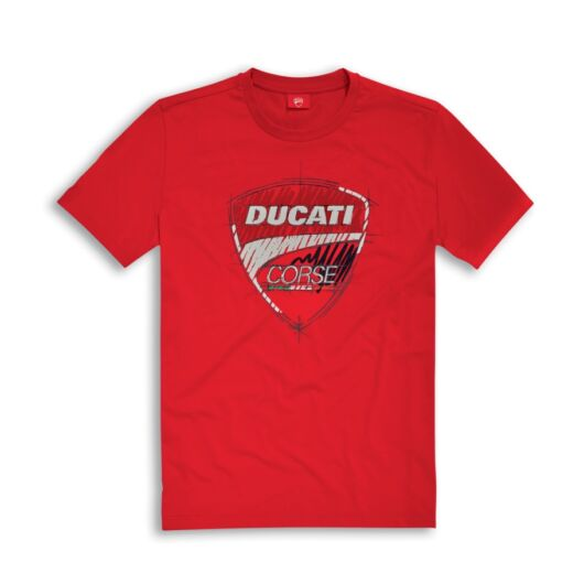 Ducati Corse poló, piros